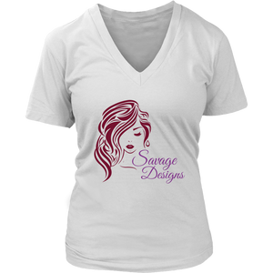 Savage Designs Women's Beauty Maroon/Purple V-Neck- 4 Colors