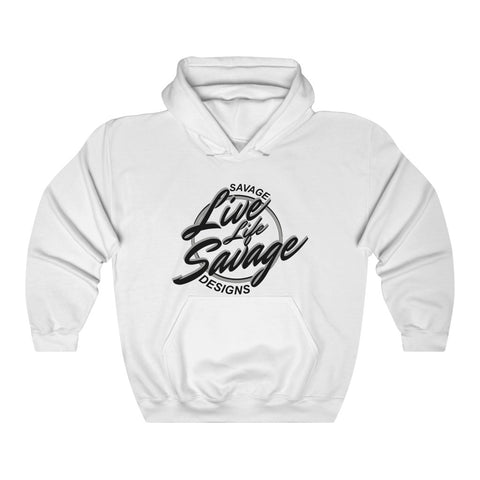 Savage Designs Live Life Savage Calligraphy Black/Grey Hoodie- 3 Colors