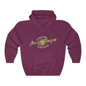 Savage Designs Sunray Flare Black and Gold Hoodie- 1 Color