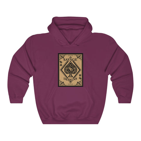 Savage Designs Ace of Spade Black and Tan Hoodie- 4 Colors