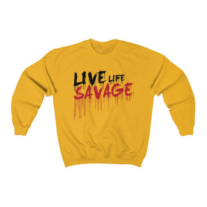 Live Life Savage Paint Drip Black/Red Sweatshirt- 2 Colors