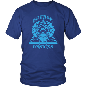 Savage Designs Eygptian Scarab Beetle T-Shirt Turquoise- 9 Colors