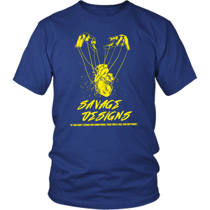Savage Designs Heart Strings T-Shirt Yellow- 15 Colors