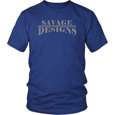 Savage Designs Classic Modern T-shirt Grey- 10 Colors