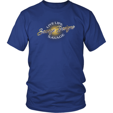 Savage Designs Sunray Flare Royal Blue and Gold- 6 Colors