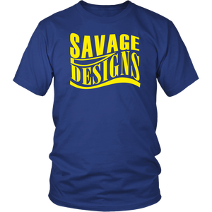 Savage Designs Warped Curve T-shirt Yellow- 14 Colors