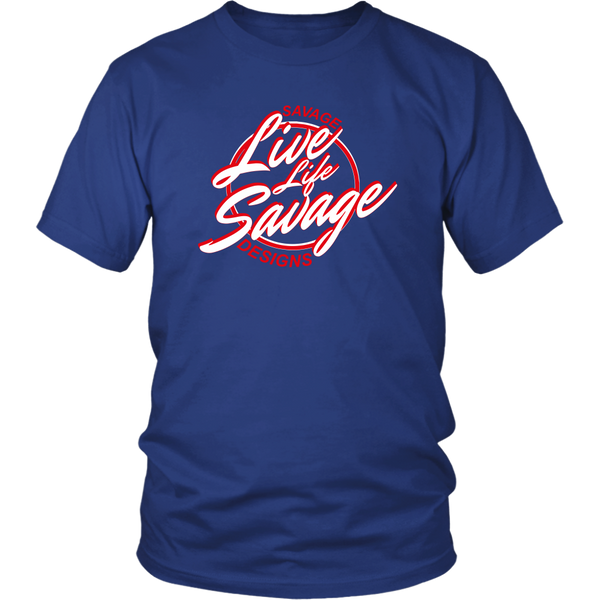 Savage Designs Live Life Savage Calligraphy White/Red- 7 Colors