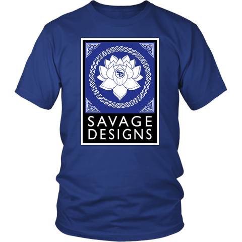 Savage Designs Lotus Flower Royal Blue/White/Black- 8 Colors