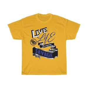 Live Life Everyday Savage White/Black/Royal Blue/Silver- 1 Color