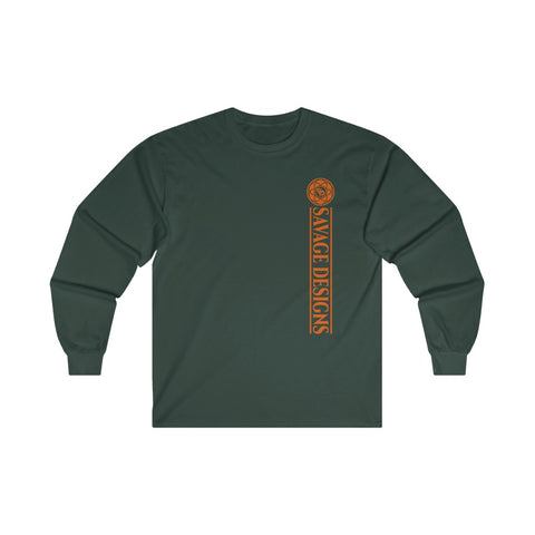 Savage Designs Egyptian Seed of Life Orange Long Sleeve- 3 Colors