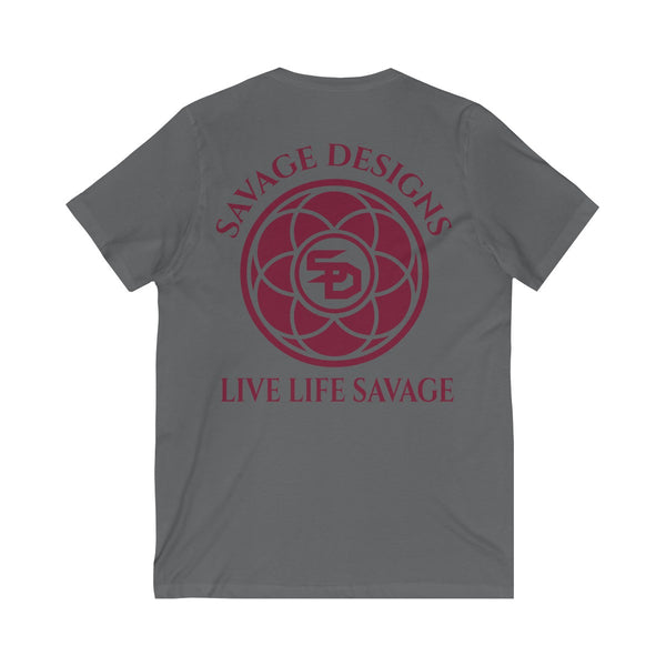 Savage Designs Egyptian Seed of Life Maroon V-Neck- 7 Colors