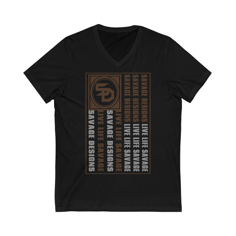 Savage Designs Flag Brown/Grey V-Neck- 2 Colors