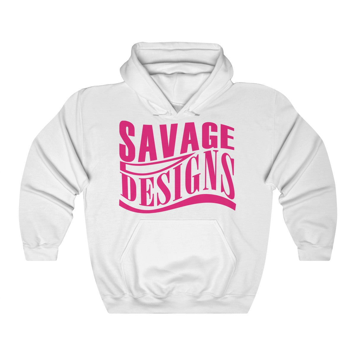 Savage Designs Warped Curve Hot Pink Hoodie- 6 Colors