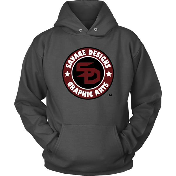 Savage Designs Symbol Patch Burgundy/Black/White Hoodie- 2 Colors