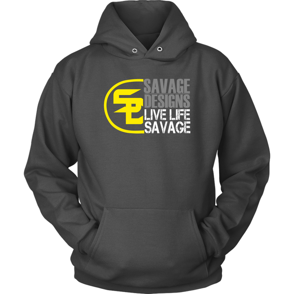 Savage Designs Sliced Up Yellow/Grey/White Hoodie- 8 Colors