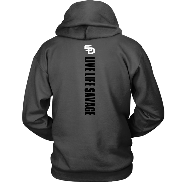 Savage Designs Original Symbol/Live Life Savage Front and Back Print Hoodie- 11 Colors