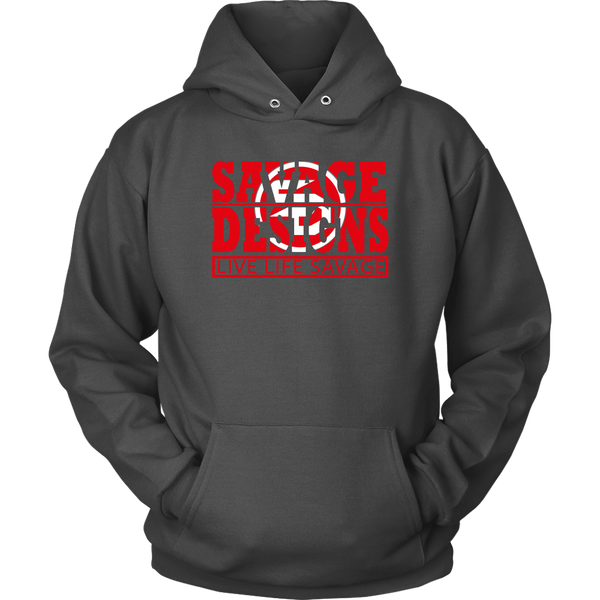The Savage Within Red/White Hoodie- 5 Colors