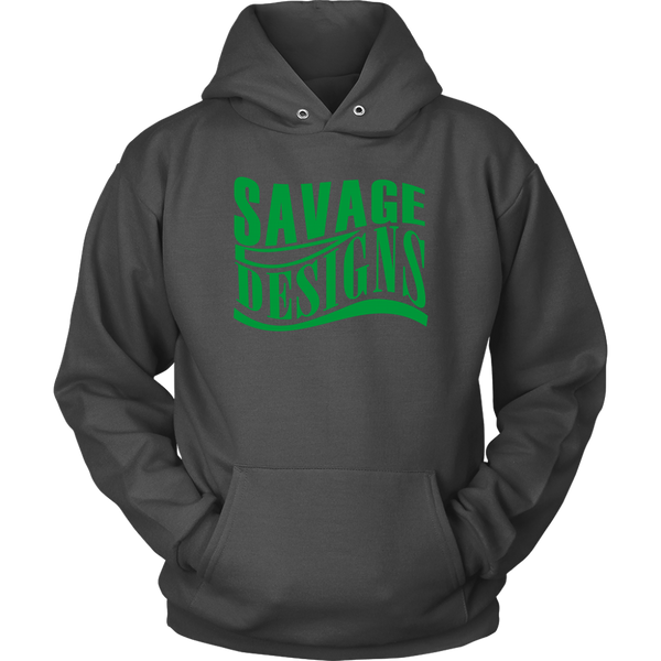 Savage Designs Warped Curve Green Hoodie- 10 Colors