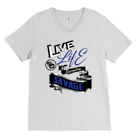 Live Life Everyday Savage White/Black/Royal Blue/Silver- 4 Colors