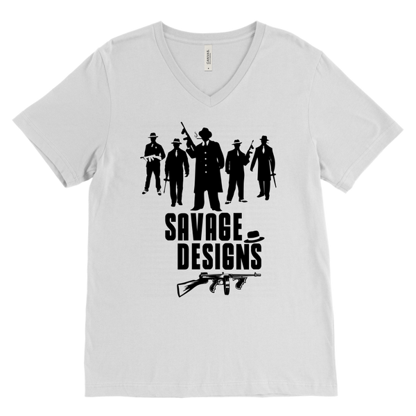 Savage Designs Mob Mafia Black V-Neck- 10 Colors