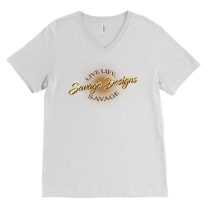 Savage Designs Sunray Flare Brown, Gold and Tan V-Neck- 2 Colors