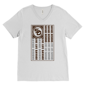 Savage Designs Flag Brown/Grey V-Neck- 5 Colors