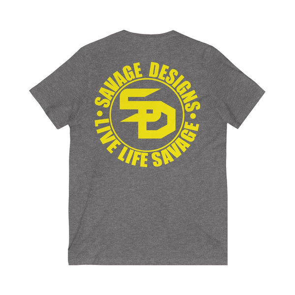 Savage Designs Triple Threat Yellow V-Neck- 11 Colors