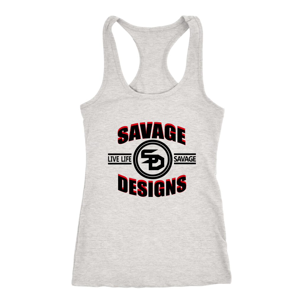Savage Designs Dead Focus Black/Red Tank Top- 3 Colors