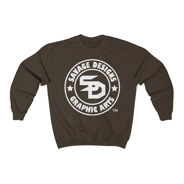 Savage Designs Original Symbol/Live Life Savage Front and Back Print Sweatshirt- 9 Colors