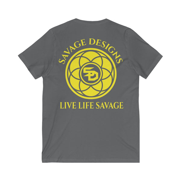 Savage Designs Egyptian Seed of Life Yellow V-Neck- 11 Colors