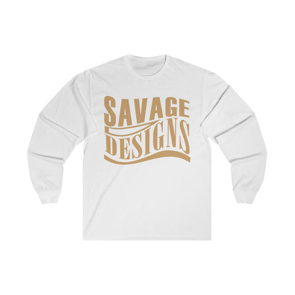 Savage Designs Warped Curve Tan Long Sleeve- 4 Colors