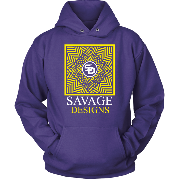 Savage Designs Optical Illusion Yellow/White Hoodie- 11 Colors