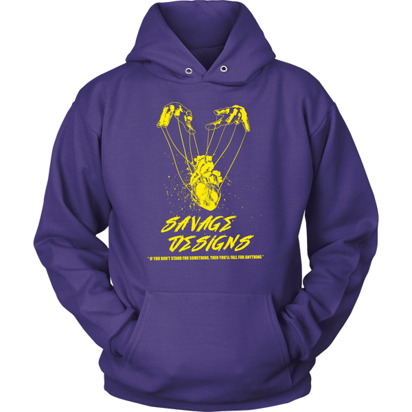 Savage Designs Heart Strings Yellow Hoodie- 10 Colors