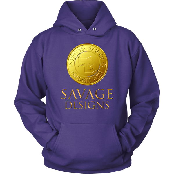 Savage Designs Gold Coin Medallion Hoodie- 10 Colors