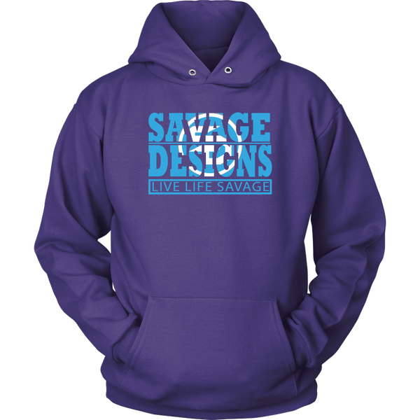 The Savage Within Cyan/White Hoodie- 8 Colors