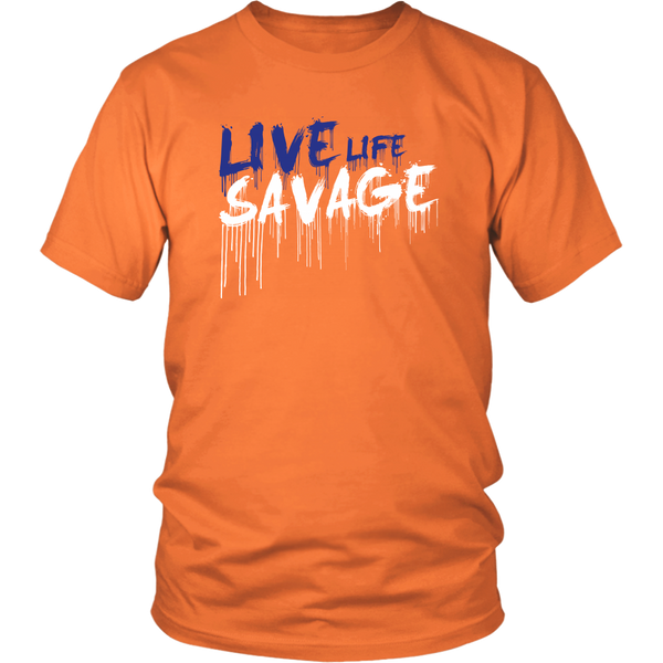 Live Life Savage Paint Drip Royal Blue/White- 7 Colors