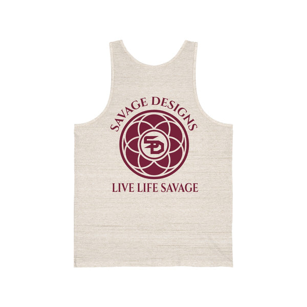 Savage Designs Egyptian Seed of Life Maroon Tank Top- 8 Colors