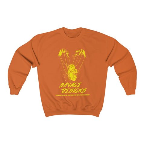 Savage Designs Heart Strings Yellow Sweatshirt- 4 Colors