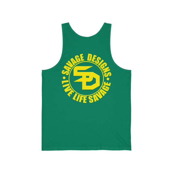 Savage Designs Triple Threat Yellow Tank Top- 9 Colors