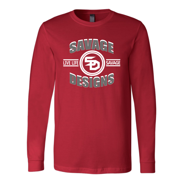 Savage Designs Dead Focus Grey/White Long Sleeve- 8 Colors