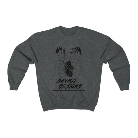 Savage Designs Heart Strings Black Sweatshirt- 7 Colors