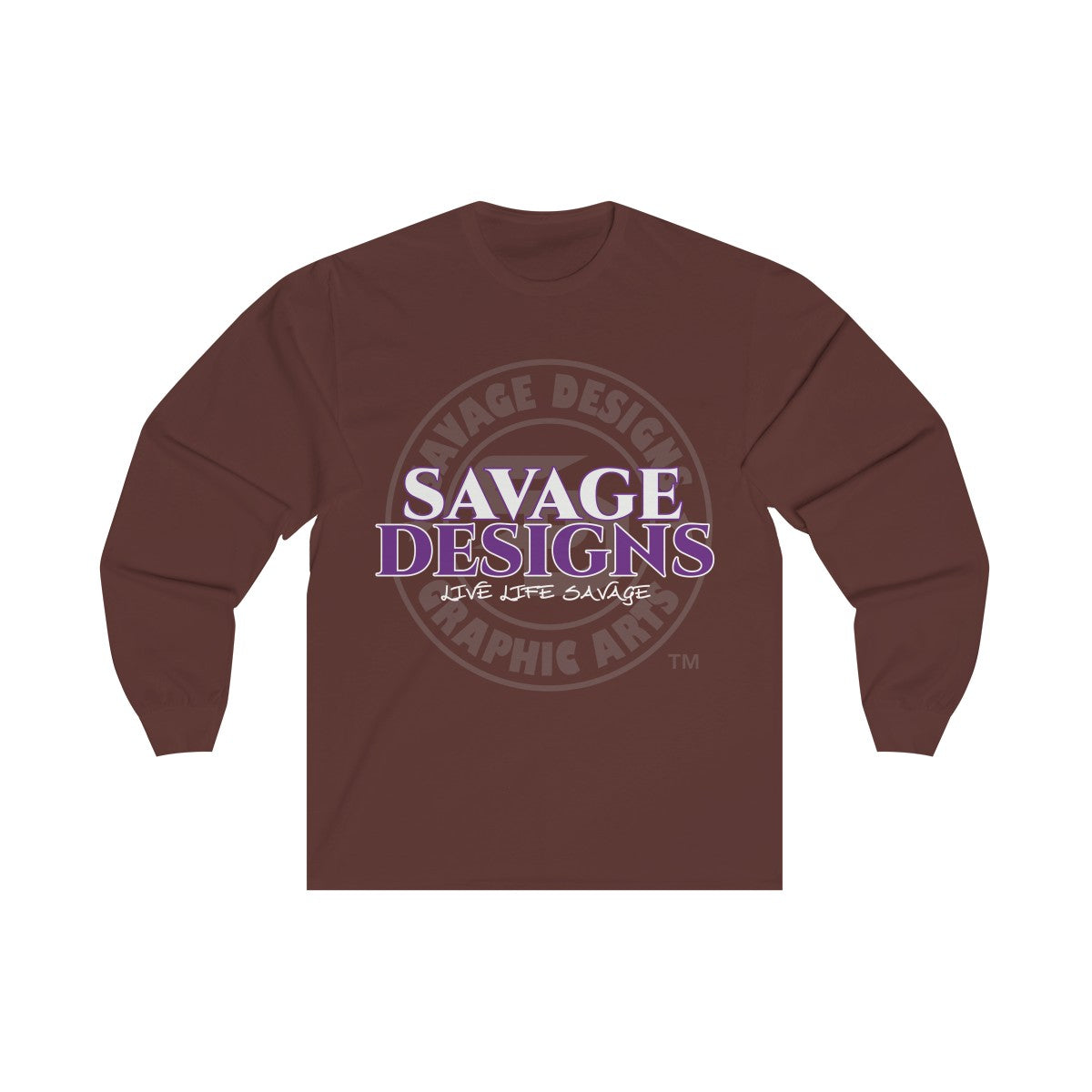 Savage Designs Faded Symbol White/Purple/Grey Long Sleeve- 2 Colors