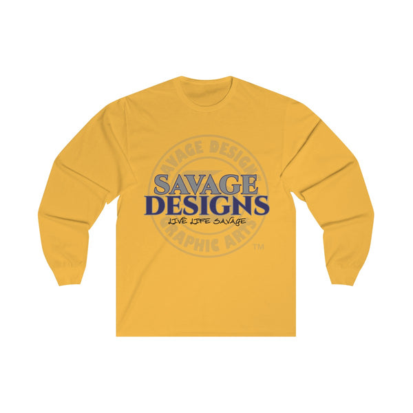 Savage Designs Faded Symbol Grey/Navy/Black Long Sleeve- 4 Colors