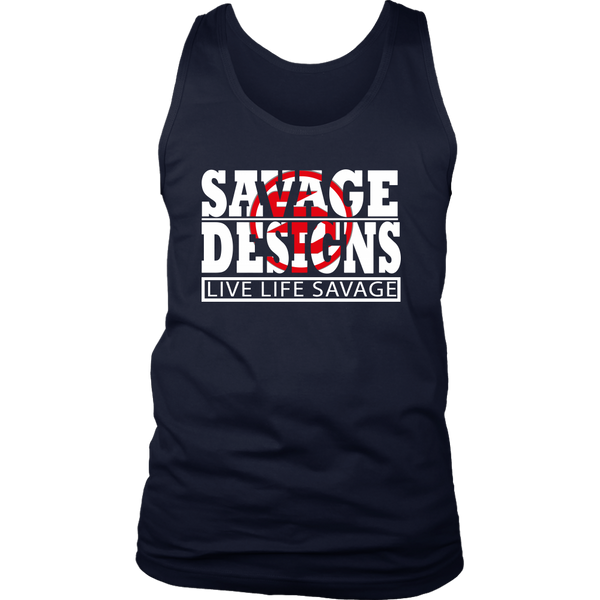 The Savage Within White/Red Tank Top- 7 Colors
