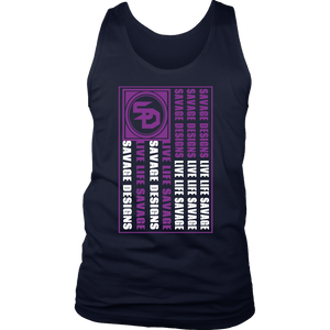 Savage Designs Flag Purple/White Tank Top- 8 Colors
