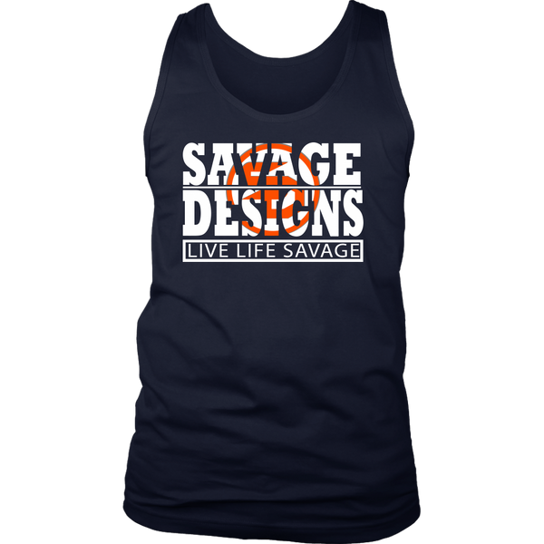 The Savage Within White/Orange Tank Top- 8 Colors