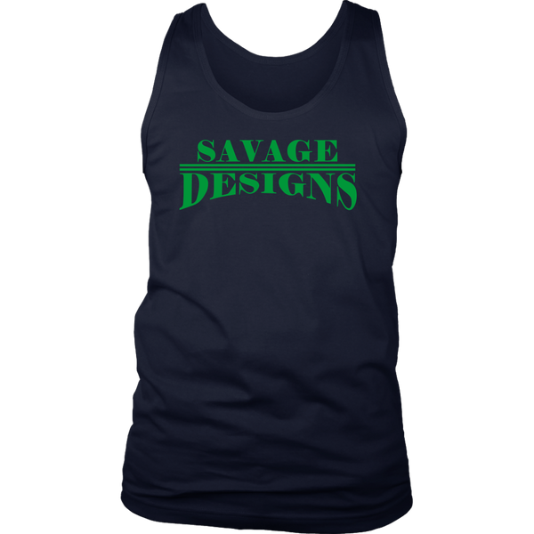 Savage Designs Classic Modern Green Tank Top- 9 Colors