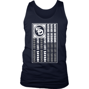 Savage Designs Flag White/Grey Tank Top- 8 Colors