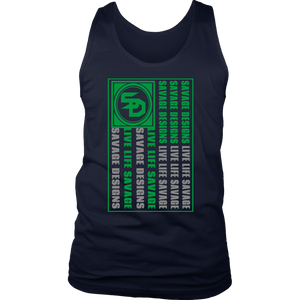 Savage Designs Flag Green/Grey Tank Tops- 10 Colors