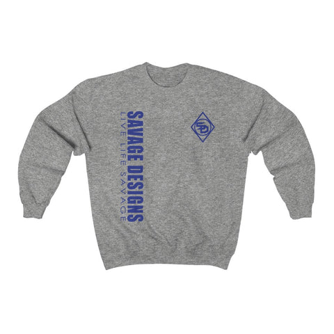 Savage Designs Triple Threat Royal Blue Sweatshirt- 8 Colors